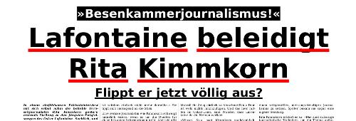 Lafontaine beleidigt Rita Kimmkorn